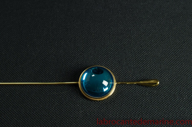 Broche Bleue En Lalique