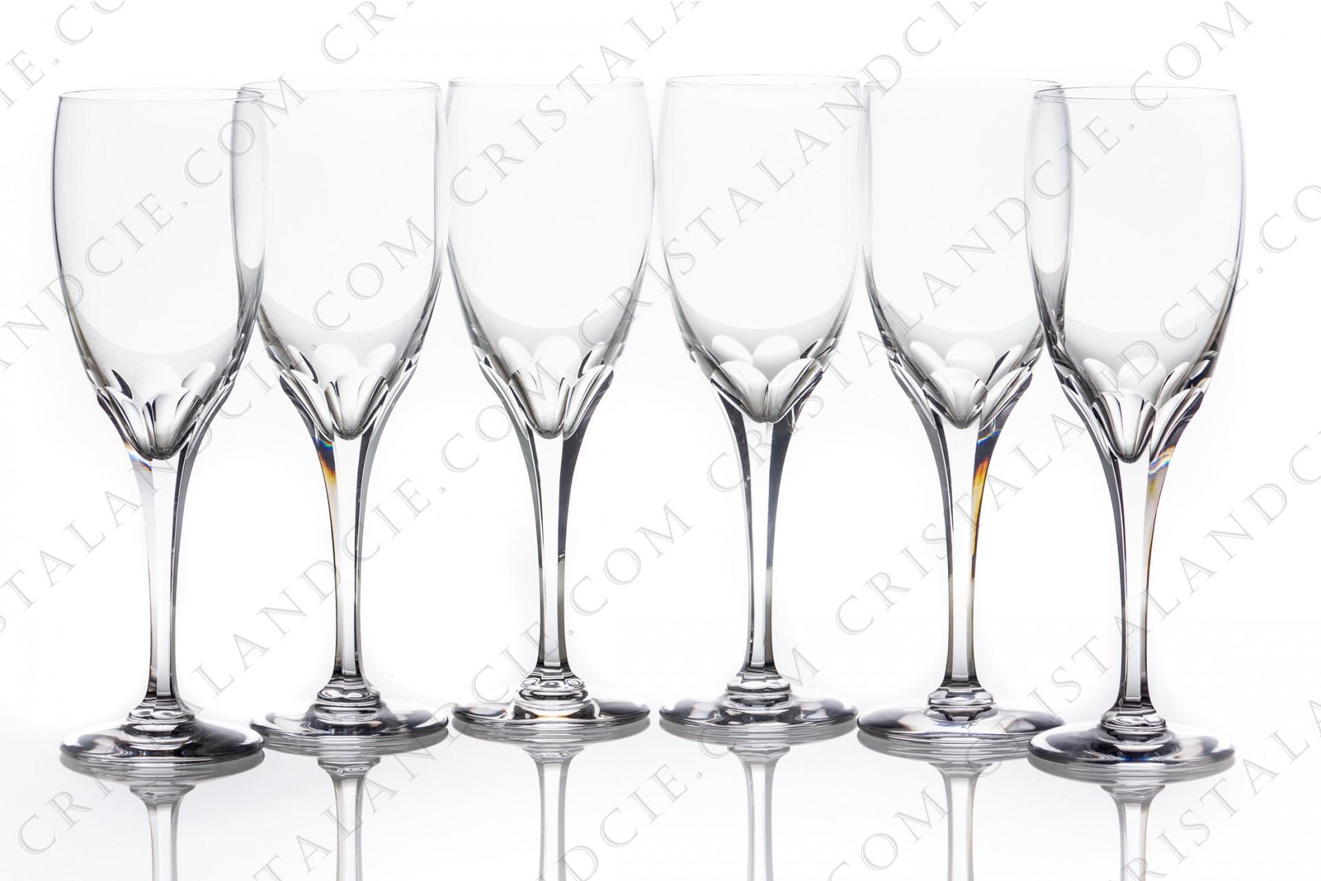 Six flûtes à Champagne Tuileries en Lalique 930d98bc132a