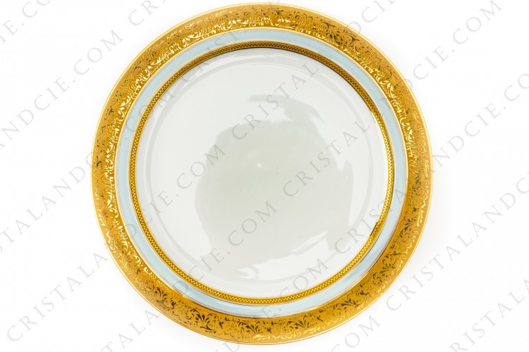 Dinner plate gold inlays by Vignaud