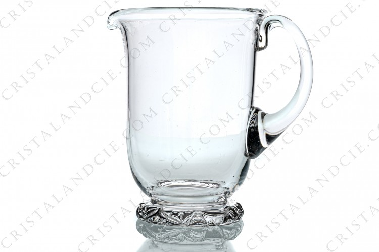 Water jug in crystal by Daum pattern Kim