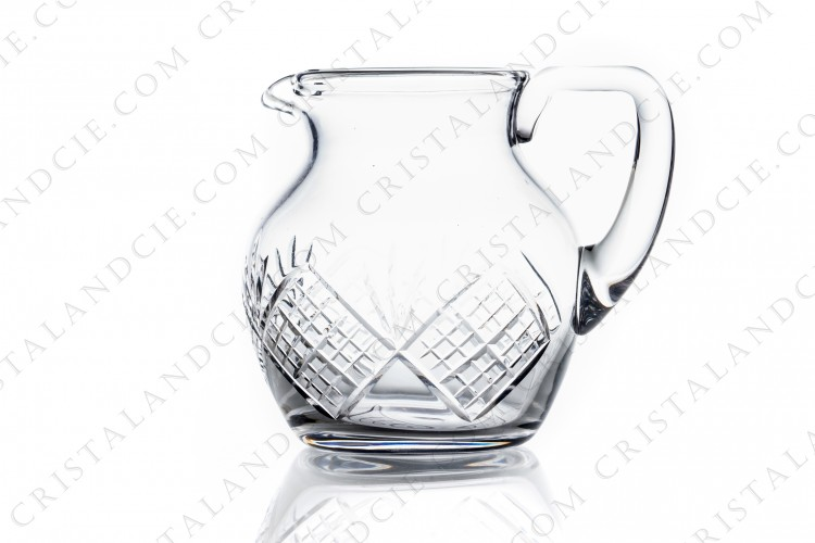 Water jug in crystal by Saint-Louis with a cut pattern photo-1