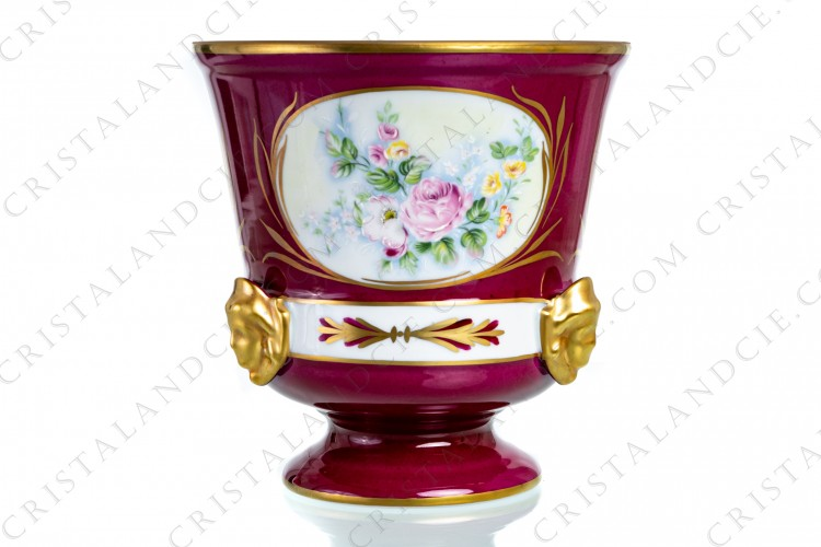 Flower pot with roses Limoges