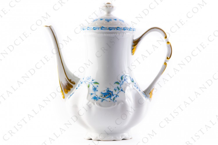Coffee pot blue flowers by the Ancienne Manufacture Royale