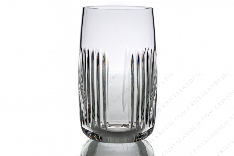 Highball in crystal by Saint-Louis pattern Nice decorated with cut bevels