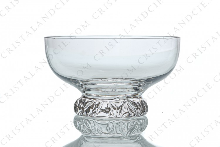 Champagne saucer in crystal by Daum pattern Kim