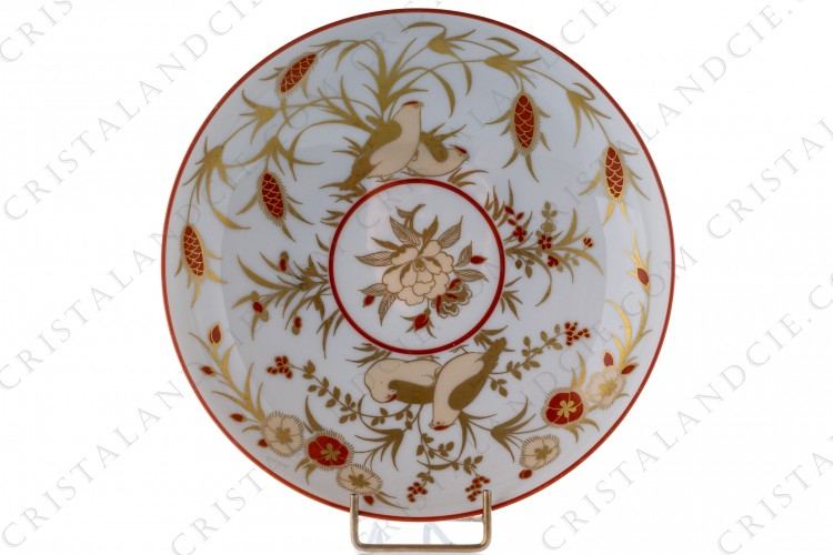 Small cup in china by Villeroy and Boch by Heinrich, decorated with red and gold hand painted birds and flowers