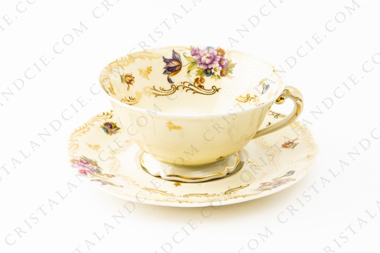 Breakfast cup with flowers by Limoges