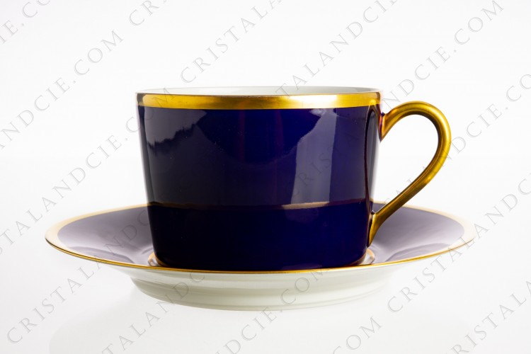 Blue cobalt breakfast cup by La Seynie