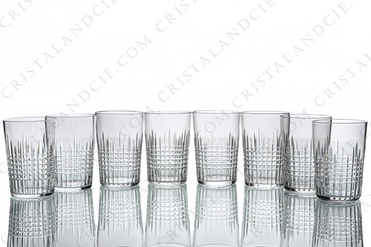 Eight tumblers Nancy by Baccarat ( 3,15 in)