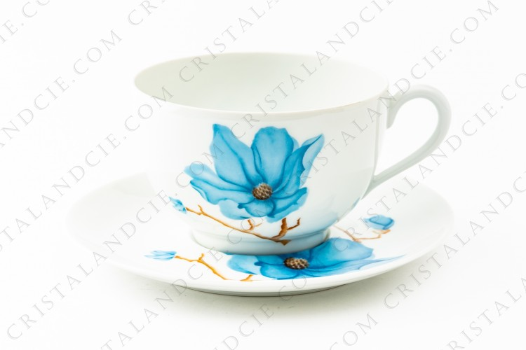 Towering breakfast cup Hibiscus by Haviland et Parlon