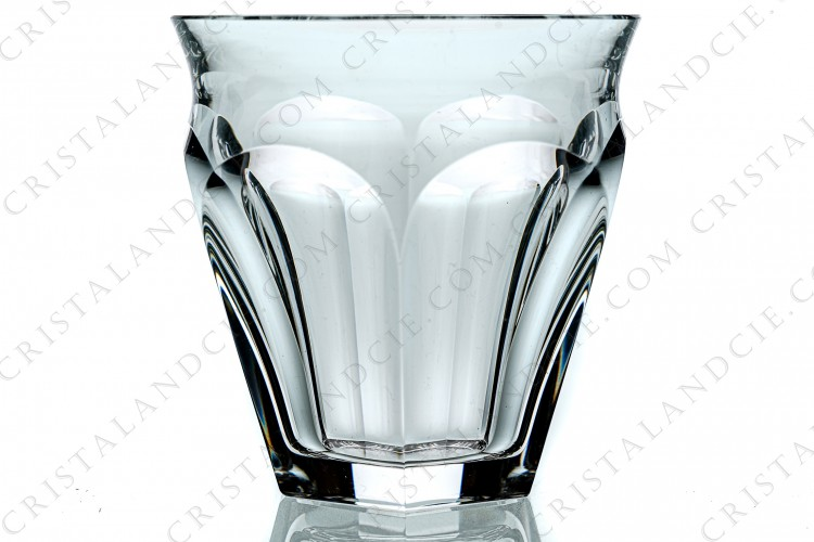 Pair of tumblers in crystal by Baccarat pattern Talleyrand with flatcuts
