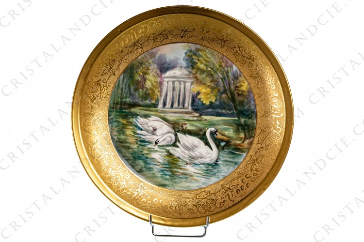 Dish with swans by Theodore Haviland
