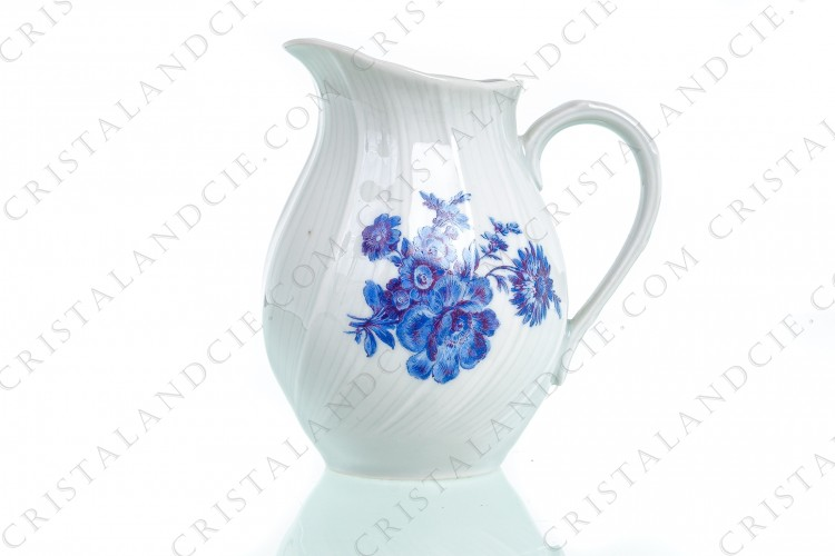 Creamer with blue bouquet by Bernardaud