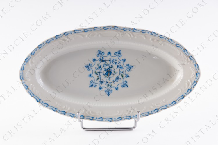 Relish dish blue flowers by the Ancienne Manufacture Royale