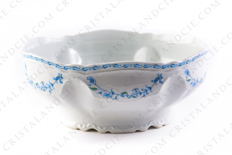 Salad bowl blue flowers by the Ancienne Manufacture Royale