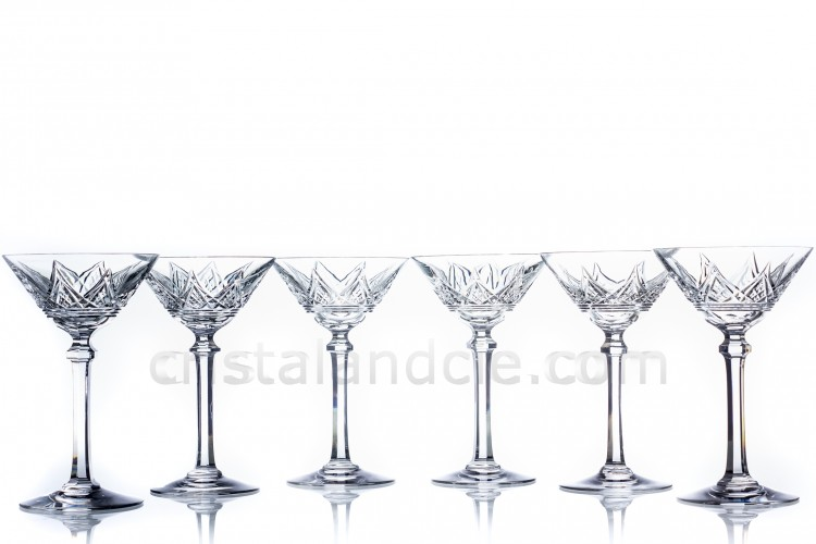 Set of Champagne saucers Louvois by Baccarat