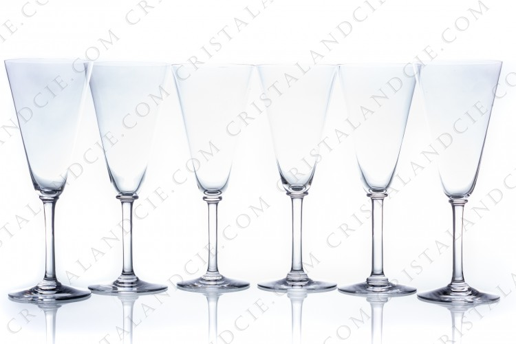 Set of Champagne flutes 100-192 by Baccarat