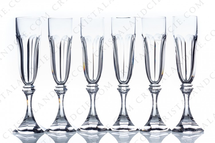 Set of Champagne flutes Chambord by Saint-Louis