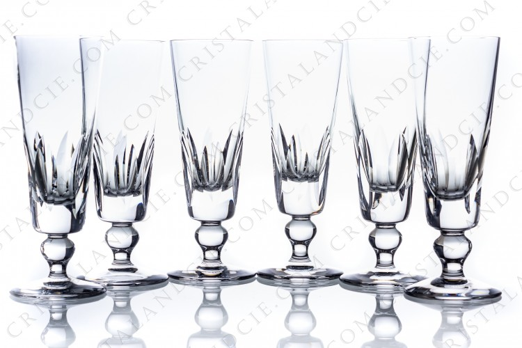 Set of Champagne flutes Jersey by Saint-Louis