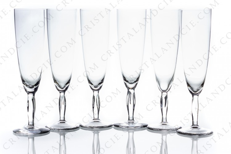Set of Champagne flutes Ovedelia by Daum