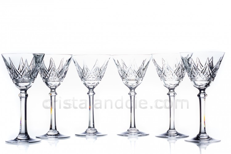 Set of watergoblets n°2 Louvois by Baccarat