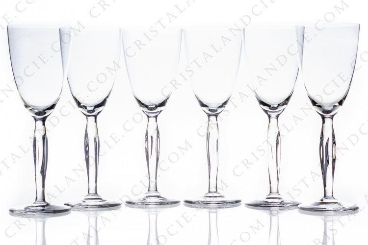 Set of watergoblets n°2 Ovedelia by Daum