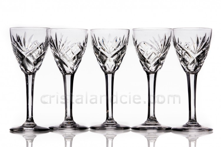 Set of cordial glasses Chantilly by Saint-Louis