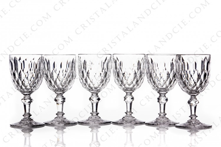 Set of wine glasses n°4 Juvisy by Baccarat