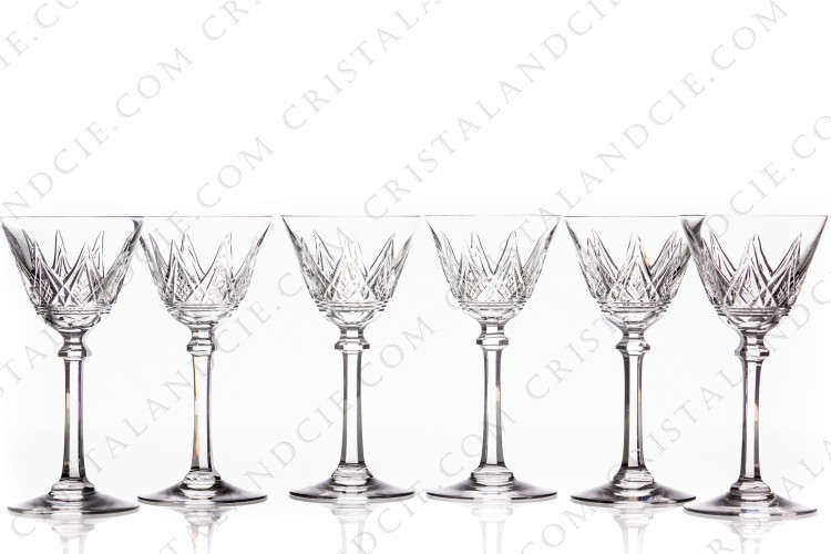 Set of wine glasses n°4 Louvois by Baccarat