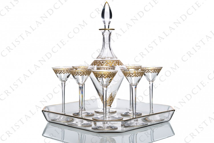 Cordial set by Saint-Louis or Baccarat