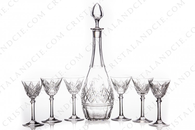 Sherry set Louvois by Baccarat