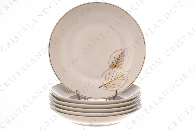 Six soup plates Catherine by Bernardaud