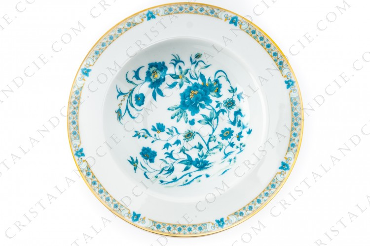 Six soup plates Nankin by Haviland