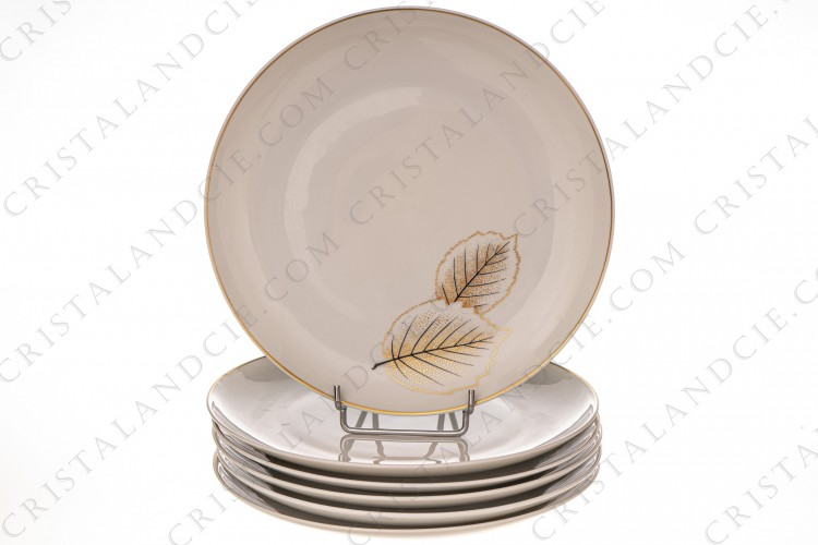 Six dinner plates Catherine by Bernardaud