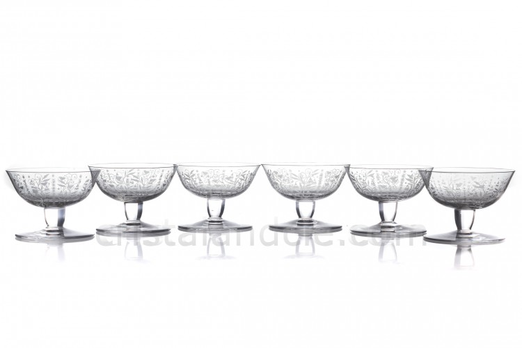Six Champagne saucers Argentina by Baccarat