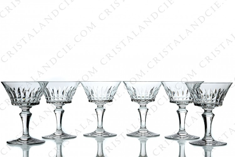 Six coupes à Champagne Piccadilly par Baccarat