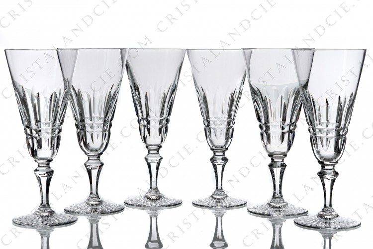 Six Champagne flutes Buckingham by Baccarat