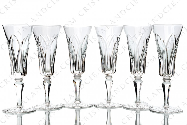 Six Champagne flutes Camargue by Saint-Louis