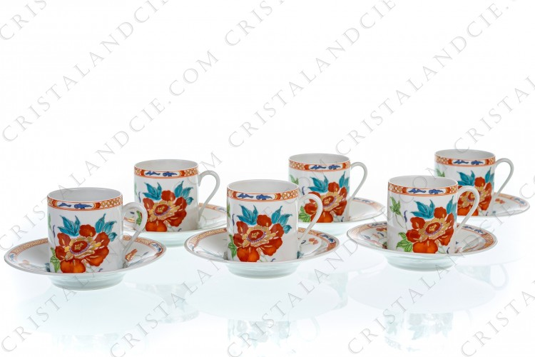 Six coffee cups Hokusai by Raynaud