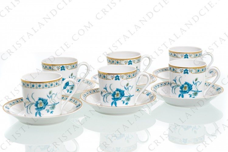 Six coffee cups Nankin by Haviland