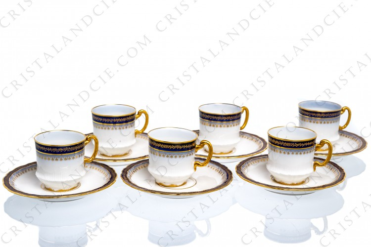 Six coffee cups by Theodore Haviland