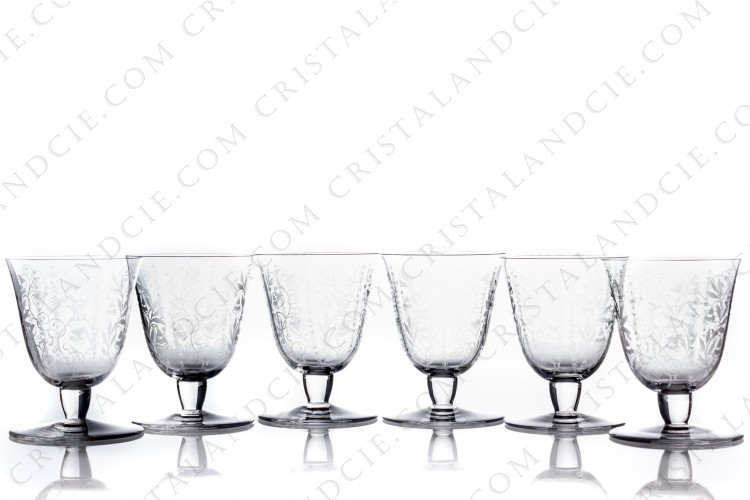 Six watergoblets n°2 Argentina by Baccarat