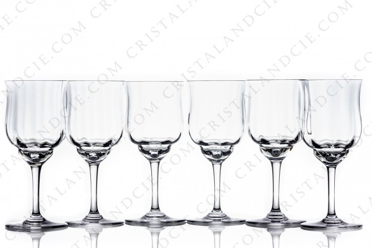 Six watergoblets n°2 Capri by Baccarat