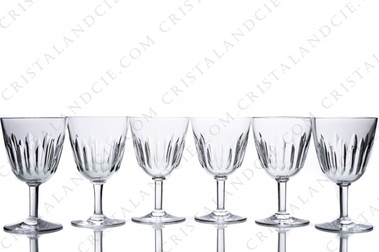 Six water glasses n°2 Cassino by Baccarat