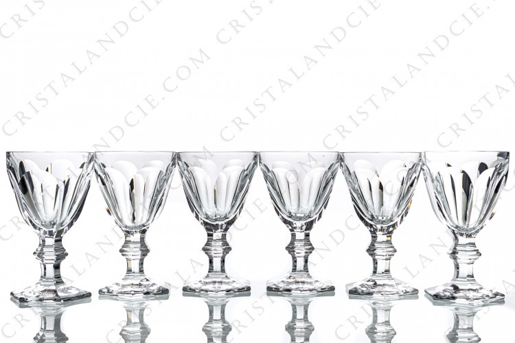 Six water glasses n°2 Harcourt by Baccarat