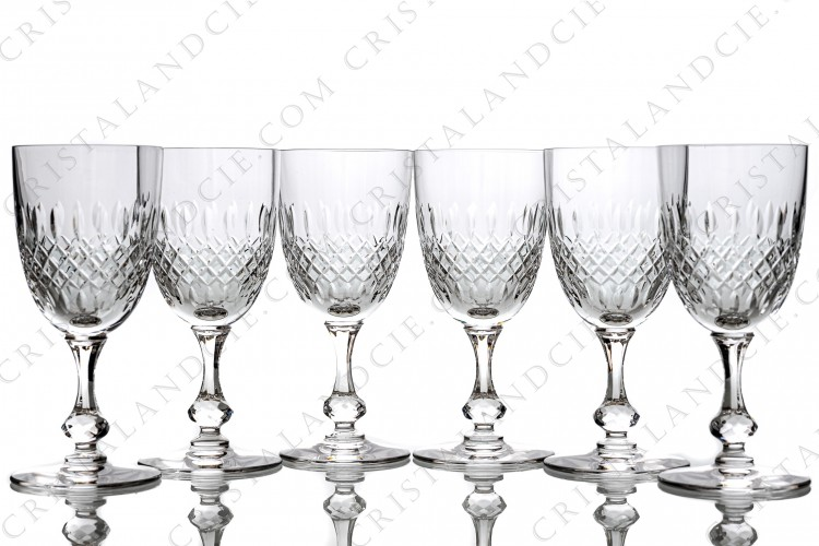 Six water glasses n°2 Messine by Saint-Louis