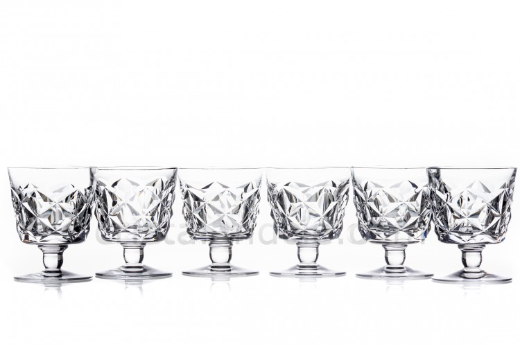 Six watergoblets n°2 Muret by Baccarat