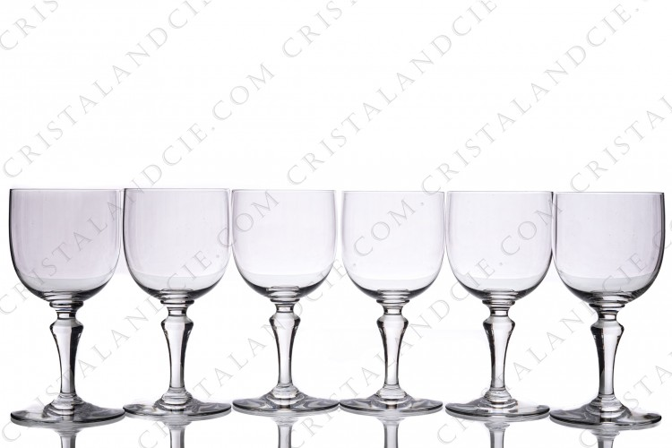 Six watergoblets n°2 Normandie by Baccarat