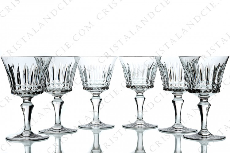 Six water glasses n°2 Piccadilly by Baccarat