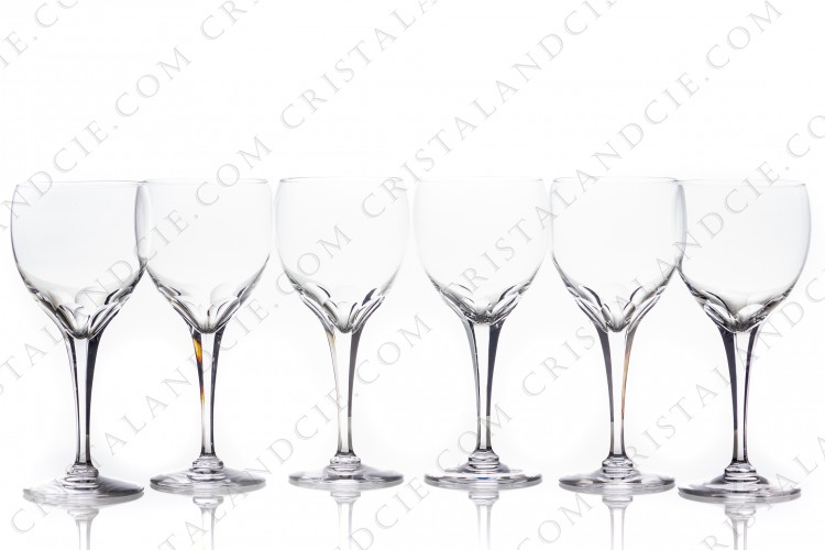 Six watergoblets n°2 Tuileries by Lalique